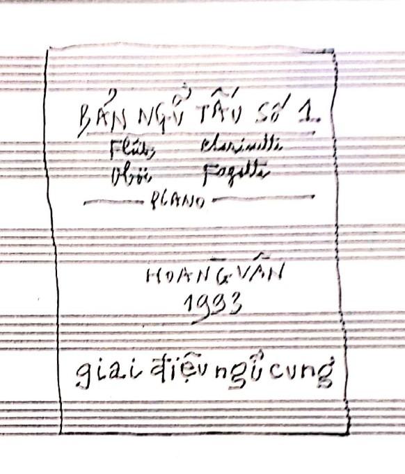 Ngũ tấu cho 4 kèn và piano trên ngũ cung