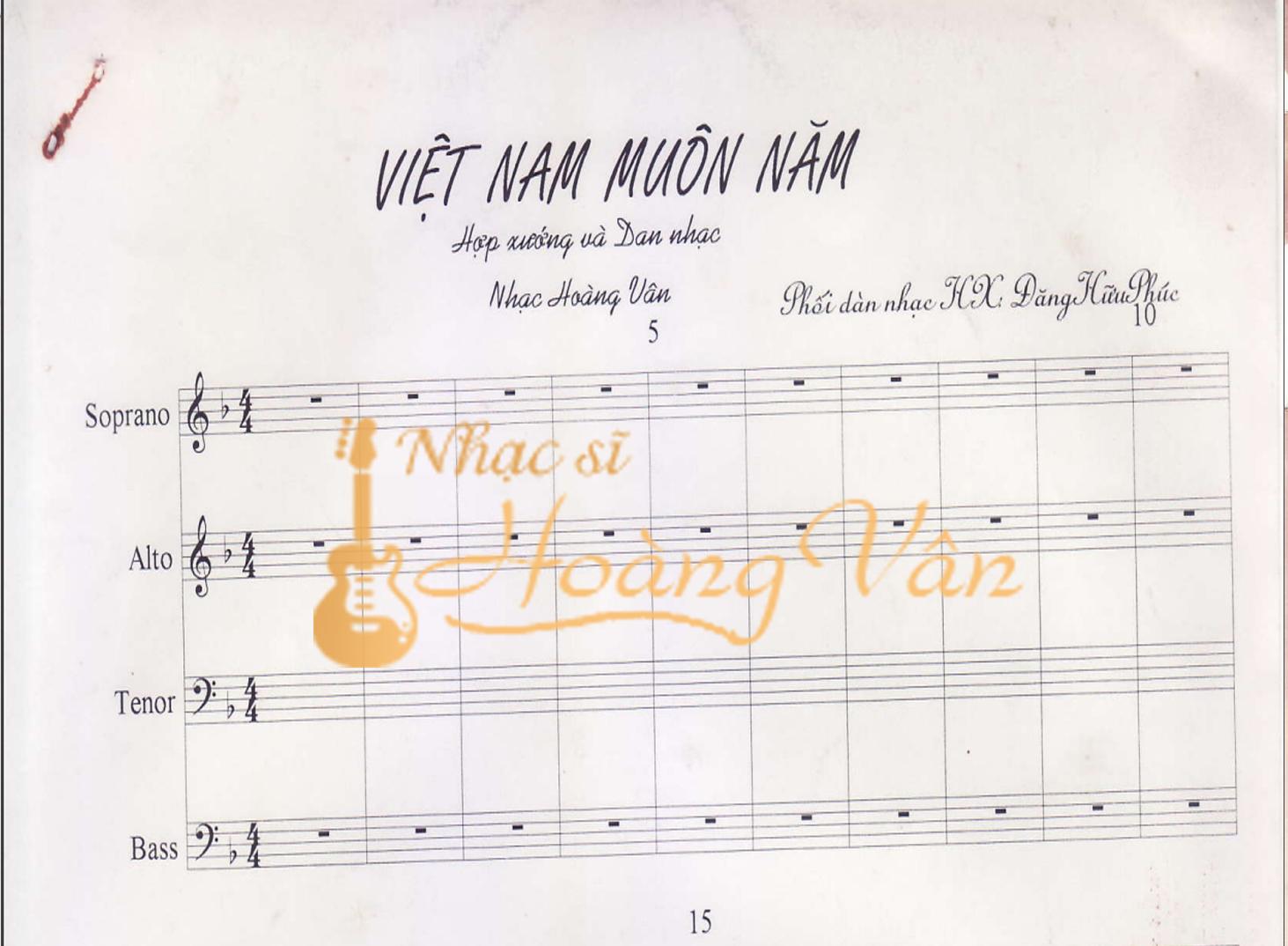 Việt Nam muôn năm (chương I bản Việt Nam Tổ Quốc ta anh hùng)